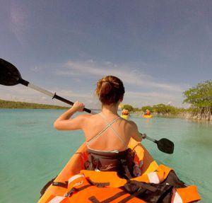 kayak laguna de bacalar quintana roo