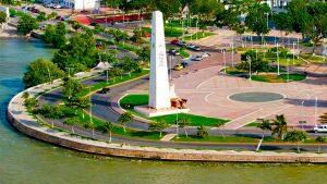 Vista aerea explanada de la bandera Chetumal Quintana Roo