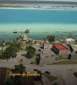 Laguna de bacalar vista aerea