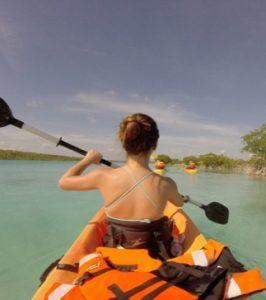 tour kayak laguna de bacalar
