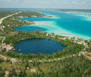 cenote azul vista aerea
