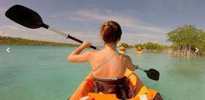 tour kayak en bacalar quintana roo