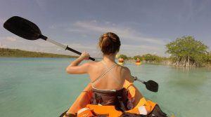 kayak en bacalar quintana roo