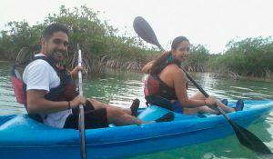 paseo kayak laguna de bacalar